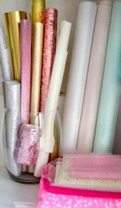 stock de tissus à paillettes