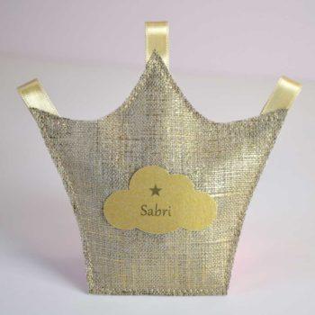 ballotins à dragées couronne pour baptême mariage