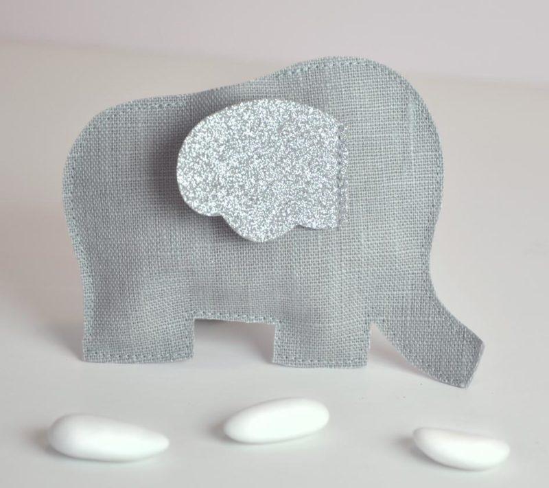 sachet à dragées éléphant